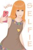 Представления девушки для selfie Стоковые Изображения RF