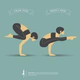 Представления йоги в двух позиционное вектор Стоковые Фотографии RF