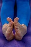 Представления йоги для ног Стоковое Фото