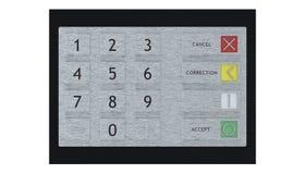 представленная кнопочная панель изображения 3d atm Стоковая Фотография