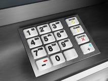 представленная кнопочная панель изображения 3d atm Стоковые Фотографии RF