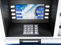 представленная кнопочная панель изображения 3d atm Стоковые Изображения