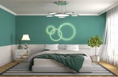 представленная молния окружающей спальни 3d нутряная иллюстрация 3d Стоковое фото RF