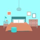 представленная молния окружающей спальни 3d нутряная Объекты для графического дизайна Стоковые Фото