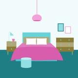 представленная молния окружающей спальни 3d нутряная Объекты для графического дизайна Стоковое Фото