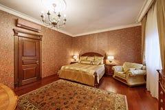 представленная молния окружающей спальни 3d нутряная Стоковое фото RF