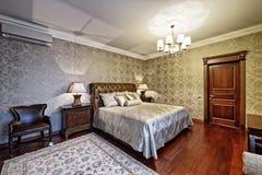 представленная молния окружающей спальни 3d нутряная Стоковое Фото