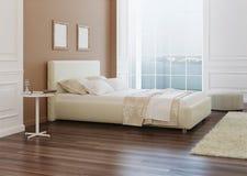 представленная молния окружающей спальни 3d нутряная Стоковая Фотография RF