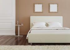 представленная молния окружающей спальни 3d нутряная Стоковое Изображение