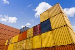 представленное изображение грузовых контейнеров 3d Стоковые Изображения RF