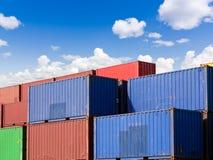 представленное изображение грузовых контейнеров 3d Стоковое Изображение RF