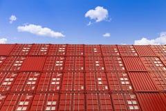 представленное изображение грузовых контейнеров 3d Стоковая Фотография