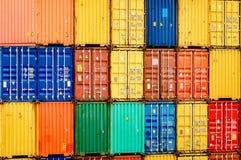 представленное изображение грузовых контейнеров 3d Стоковая Фотография RF