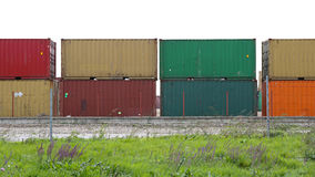 представленное изображение грузовых контейнеров 3d Стоковое фото RF
