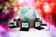 представленное изображение компьютерной сети 3d Стоковое Изображение