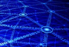 представленное изображение компьютерной сети 3d Стоковое Фото