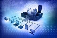 представленное изображение компьютерной сети 3d Стоковые Фотографии RF