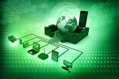 представленное изображение компьютерной сети 3d Стоковое Изображение RF