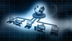 представленное изображение компьютерной сети 3d иллюстрация штока