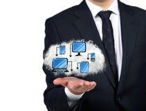 представленное изображение компьютерной сети 3d стоковая фотография