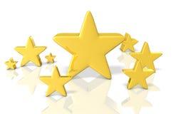 Представленное изображение показывая удачливую звезду Стоковые Фотографии RF