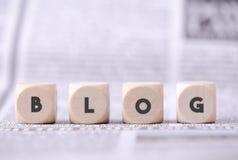 представленное изображение принципиальной схемы блога 3d Стоковые Фотографии RF