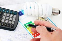 представленное изображение энергии эффективности 3d Стоковое Фото