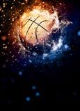 представленное реалистическое иллюстрации баскетбола предпосылки 3d Стоковое Изображение