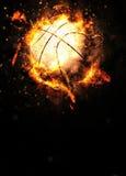 представленное реалистическое иллюстрации баскетбола предпосылки 3d Стоковая Фотография