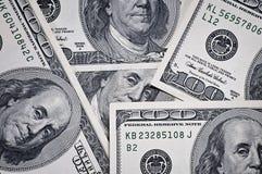 представляет счет доллар 100 крупного плана Стоковая Фотография RF