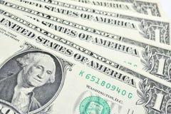 представляет счет доллар одно Стоковое Фото