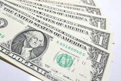 представляет счет доллар одно Стоковые Изображения
