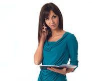 Представлять бизнес-леди Стоковые Фото