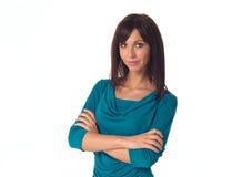 Представлять бизнес-леди Стоковые Фотографии RF