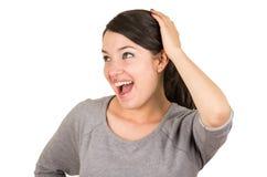 Представлять девушки красивого молодого брюнет сладостный Стоковое Фото