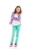 представлять девушки предназначенный для подростков Стоковое Фото