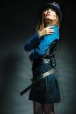 Представлять девушки Steampunk Стоковые Изображения RF