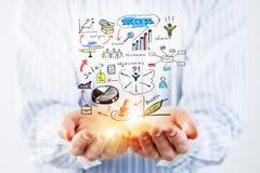 Представлять его бизнес-план Мультимедиа стоковое изображение rf