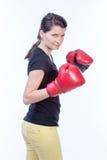 Представлять женщины боксера Стоковое Фото