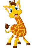 Представлять жирафа шаржа Стоковое Фото
