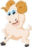 Представлять козы шаржа счастливый животный Стоковое Изображение RF