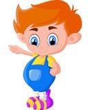 Представлять мальчика шаржа Стоковые Изображения RF