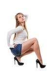 Представлять молодой женщины стоковое изображение