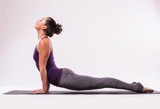Представлять молодой красивой йоги женский Стоковое Изображение RF