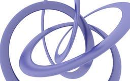 Представлять согнутую фиолетовую винтовую линию Стоковое Изображение