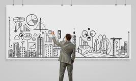 Представлять стратегию бизнеса стоковые изображения rf