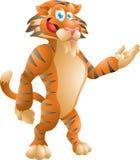 Представлять тигра Стоковое Изображение
