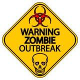 Предупреждающая вспышка зомби Стоковая Фотография