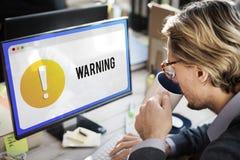 Предупреждающая концепция восклицательного знака сигнала тревоги уведомления Стоковые Фотографии RF