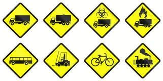 Предупреждающие дорожные знаки в Индонезии иллюстрация штока